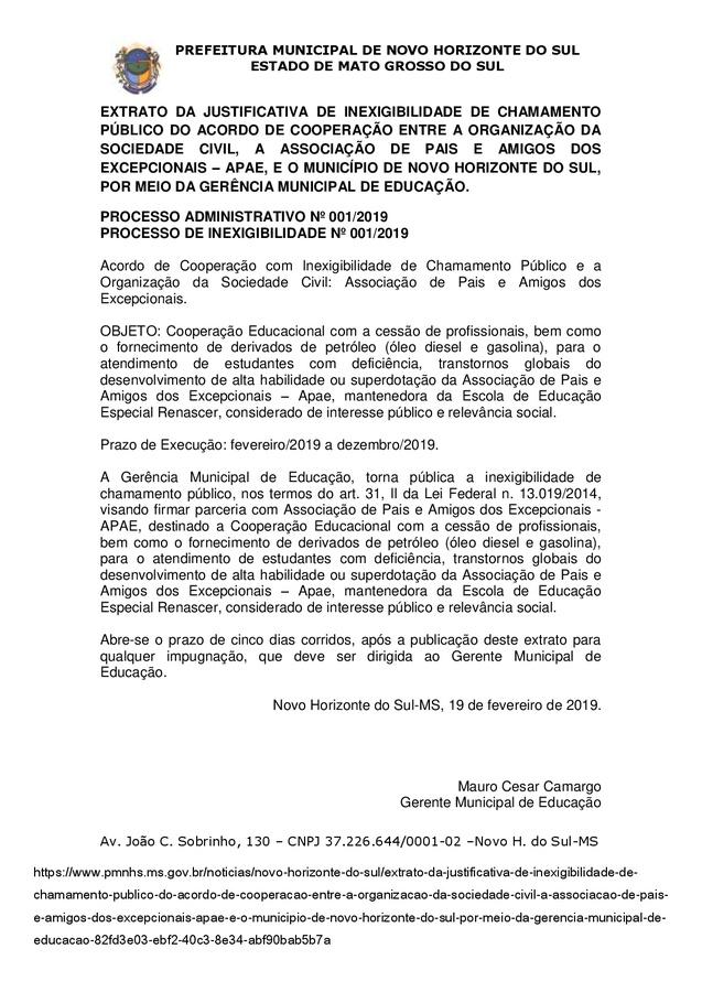 Center extrato da justificativa de inexigibilidade de chamamento p blico do acordo de coopera o entre a organiza o da sociedade civil